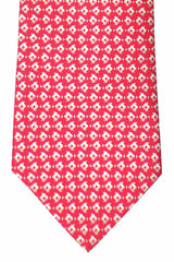 Salvatore Ferragamo Tie Red Fish