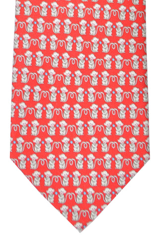 Salvatore Ferragamo Tie Red Monkey