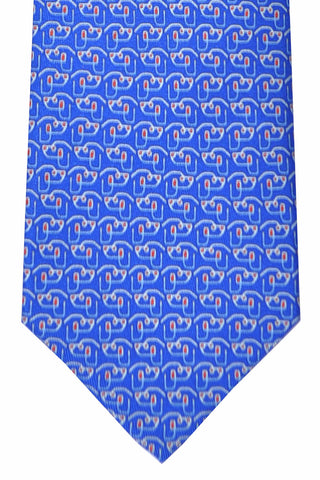 Salvatore Ferragamo Tie Royal Blue Red Dog - 2016 Collection