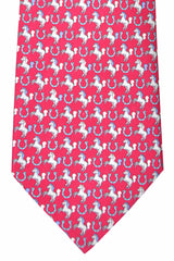 Salvatore Ferragamo Tie Strawberry Horse
