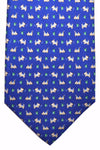 Salvatore Ferragamo Tie Royal Blue Dog Design - Spring / Summer 2017 Collection
