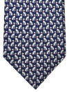 Salvatore Ferragamo Tie Navy Royal Blue Dogs