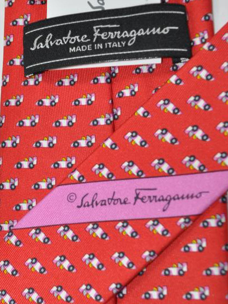 Salvatore Ferragamo Tie Red Cars