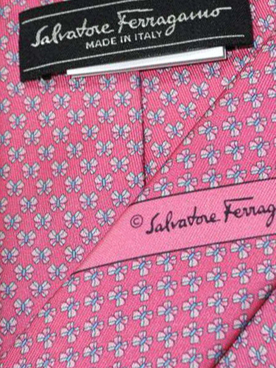 Salvatore Ferragamo Tie Pink Blue Butterflies - Spring / Summer 2018 Collection