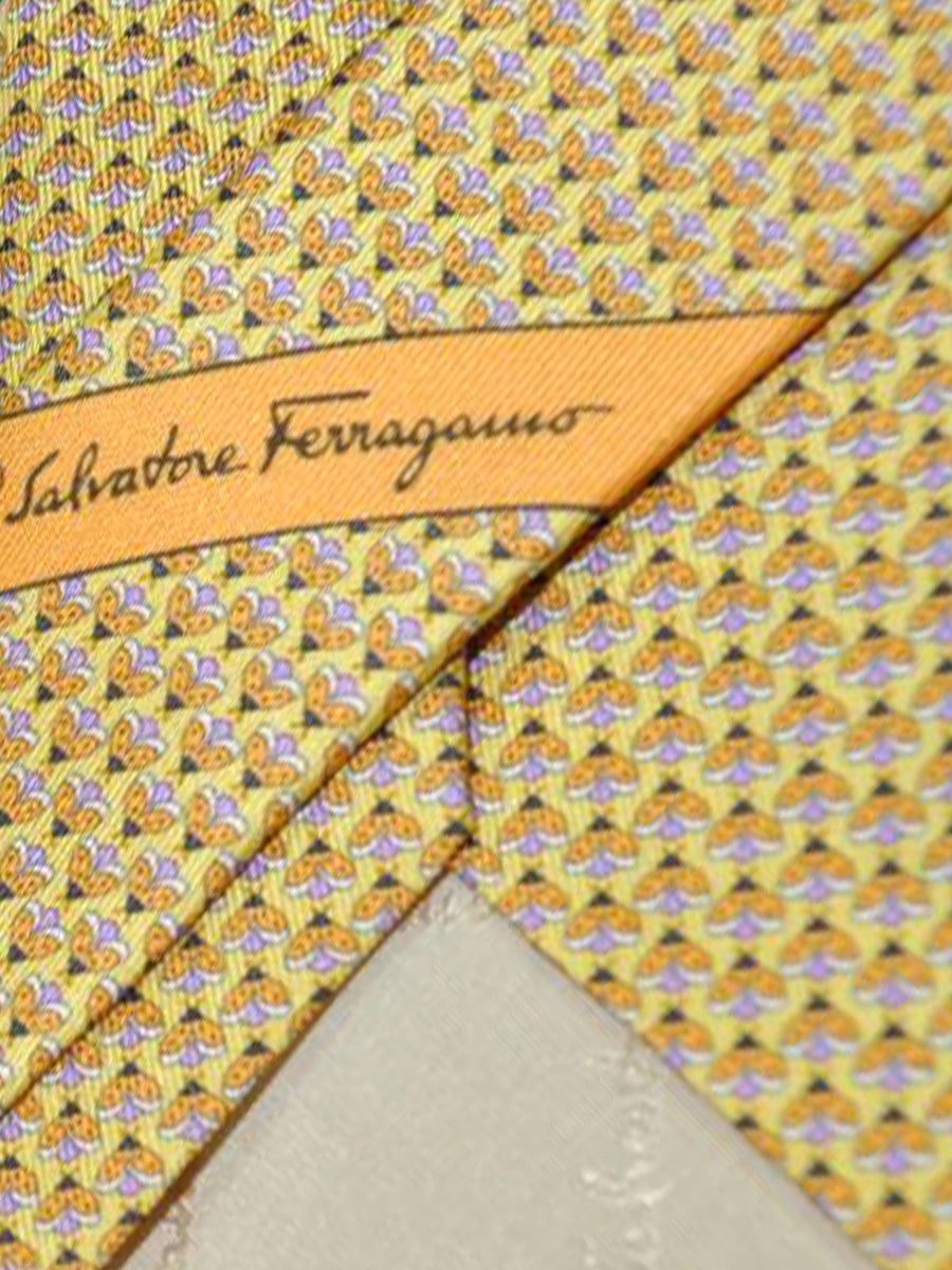 Salvatore Ferragamo Tie Yellow Orange Bees - Spring / Summer 2018 Collection