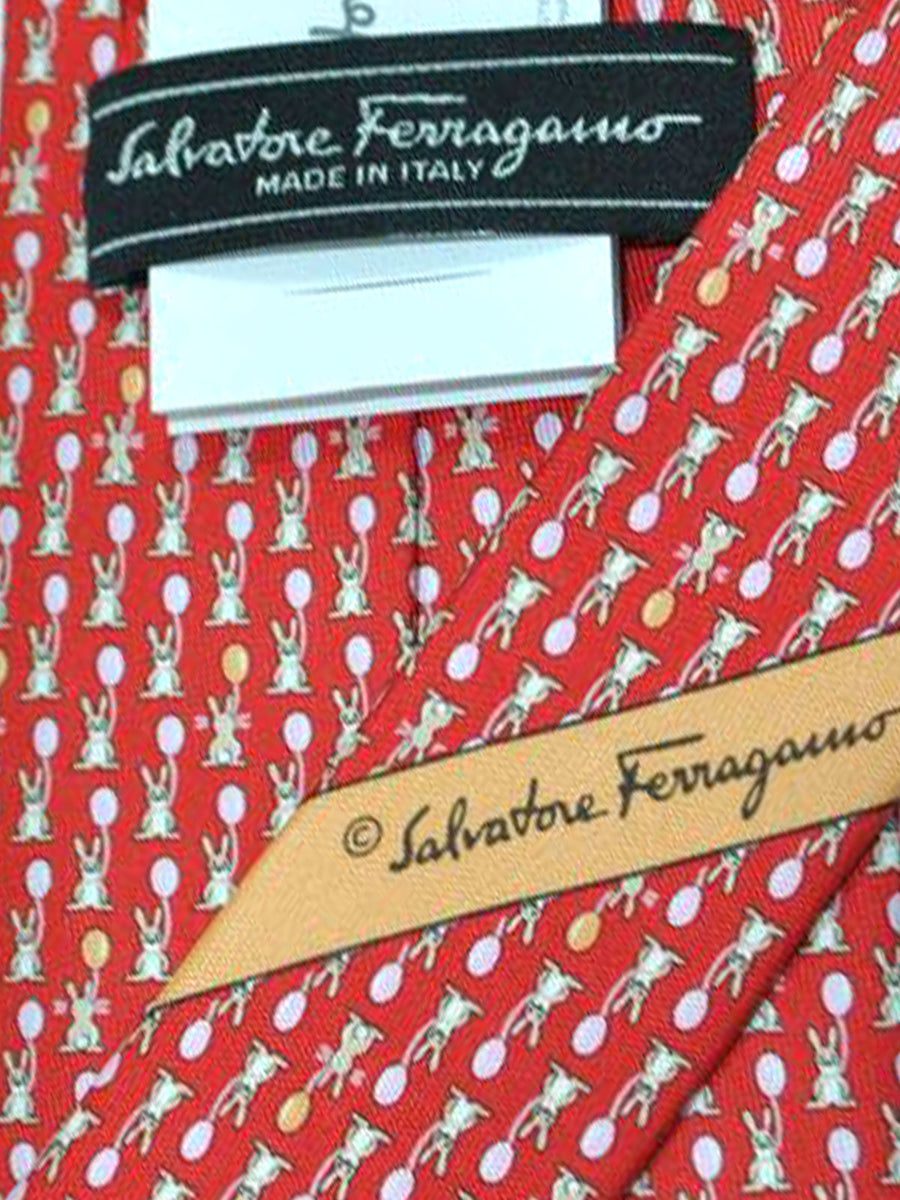Salvatore Ferragamo Tie Red Rabbits - Spring / Summer 2018 Collection
