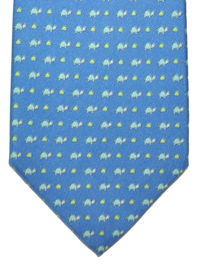 Salvatore Ferragamo Tie Royal Blue Aqua Turtles - Spring / Summer 2018 Collection