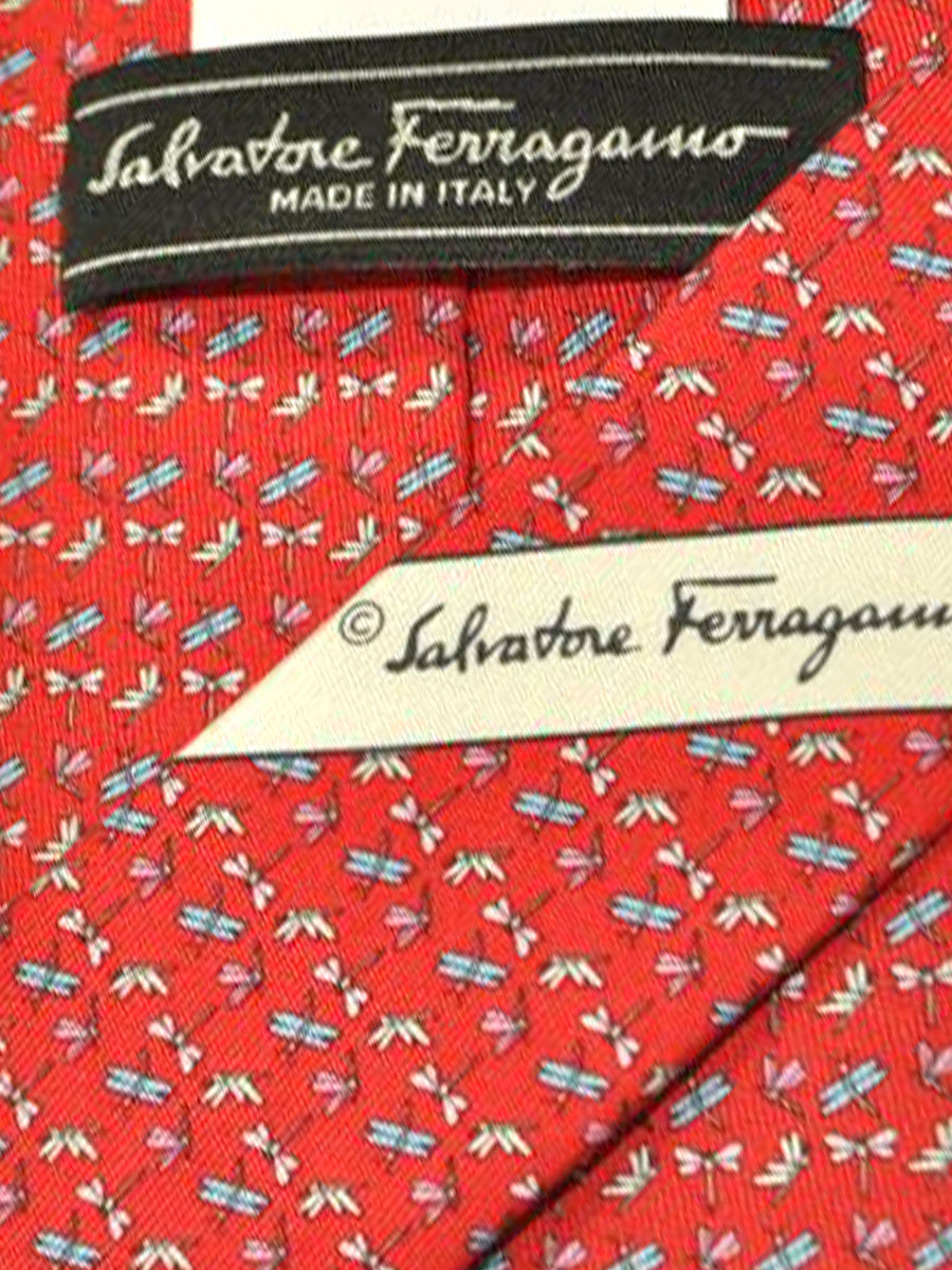 Salvatore Ferragamo Tie Red Dragonflies - Spring / Summer 2018 Collection