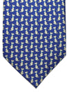 Salvatore Ferragamo Tie Navy Dog - 2018 Collection