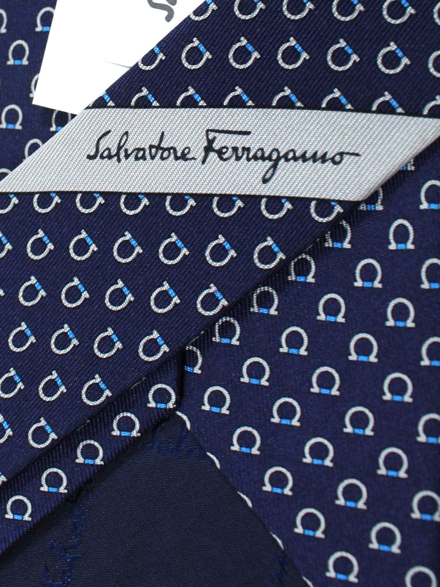 Salvatore Ferragamo Tie Navy Gancini Fall/ Winter 2018 / 2019 Collection
