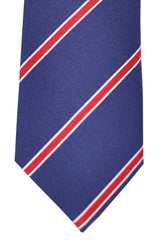 Franco Bassi Tie Navy Red Stripes - Made in Italy
