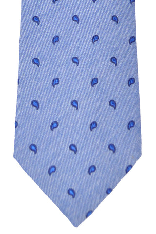 Franco Bassi Tie Blue Navy Mini Paisley - Made in Italy SALE
