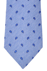 Franco Bassi Tie Blue Navy Paisley - Made in Italy