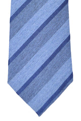 Franco Bassi Tie Blue Midnight Blue Stripes - Made in Italy