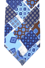 Franco Bassi Tie Blue Brown Navy - Made in Italy