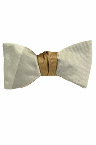 Gene Meyer Bow Tie Gray Silver Brown SALE