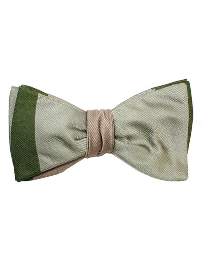 Gene Meyer Bow Tie Green Taupe