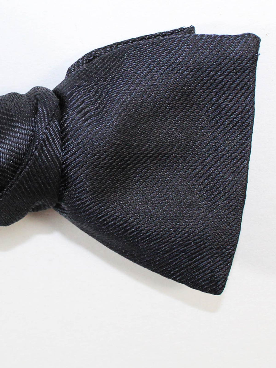 Gene Meyer Bow Tie Solid Black Grosgrain