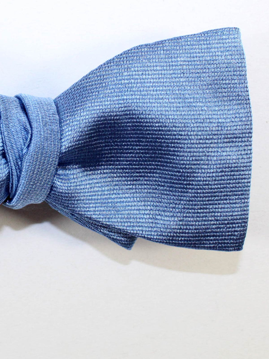 Gene Meyer Silk Bow Tie Solid Blue