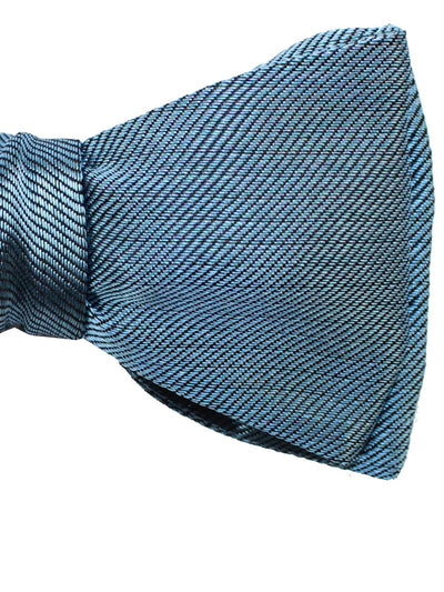 Gene Meyer Silk Bow Tie Dark Blue - Self Tie Bow Tie