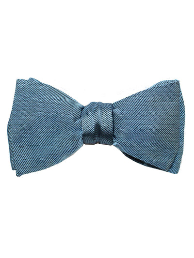 Gene Meyer Silk Bow Tie Dark Blue
