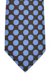 Gene Meyer Tie Polka Dots Gray Royal Blue FINAL SALE