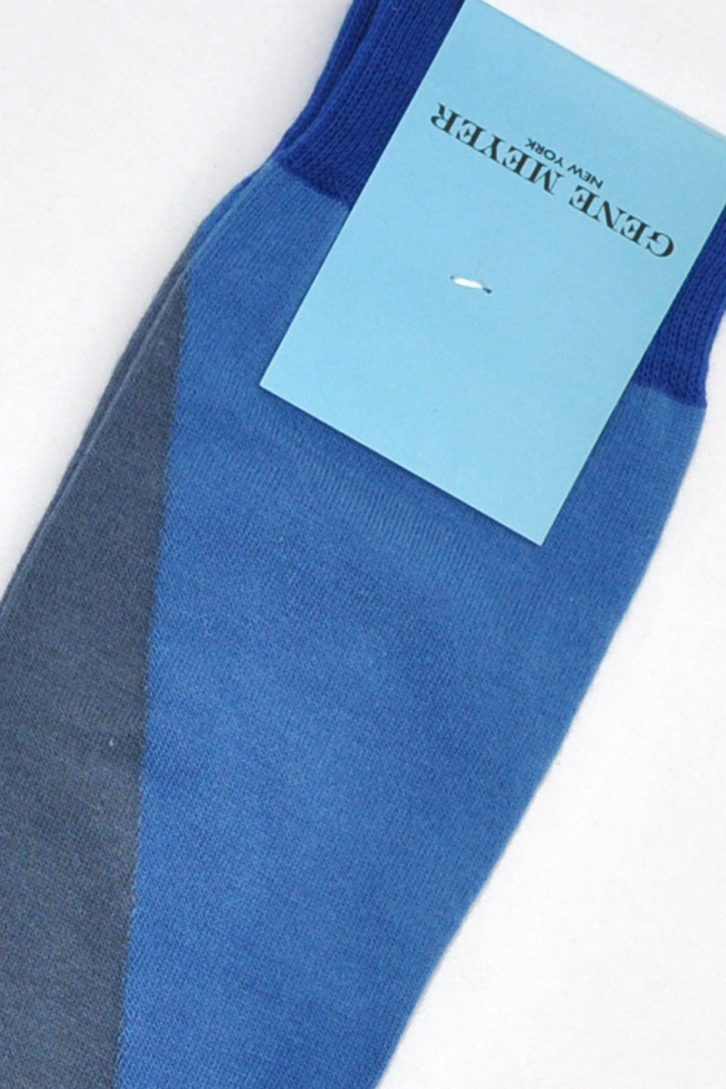 Gene Meyer Socks Blue Gray SALE