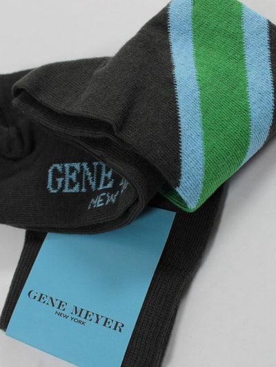 Gene Meyer Socks Diagonal Stripe - Made In Italy