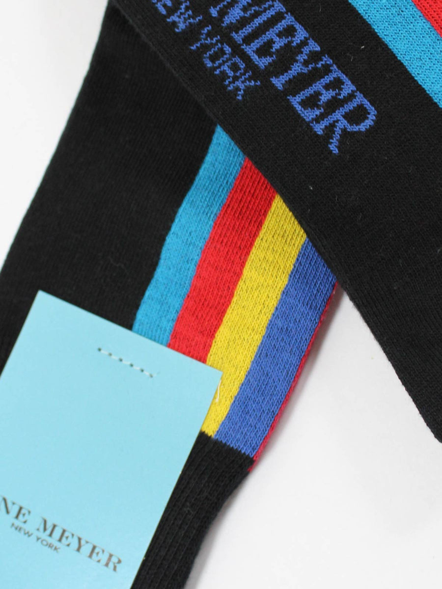 Gene Meyer Socks Black Red Yellow