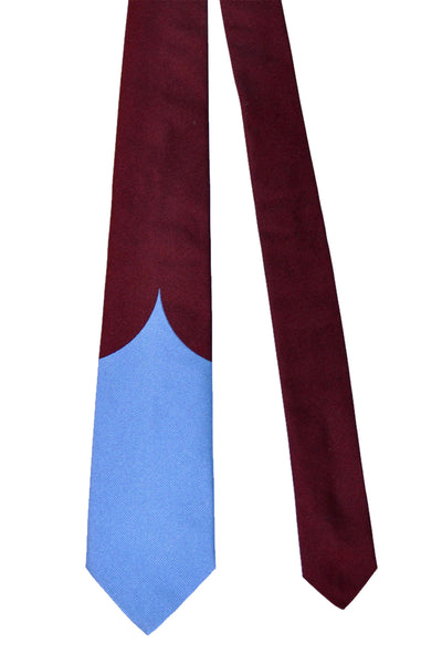 Gene Meyer Tie Blue Burgundy Design SALE