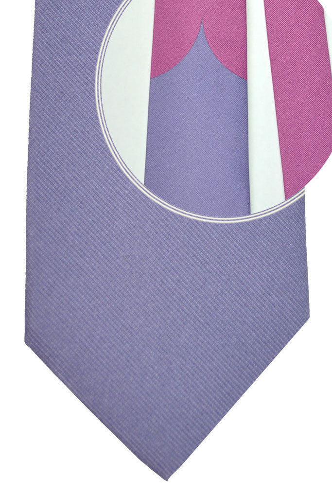 Gene Meyer Silk Tie Unique Pink Lilac