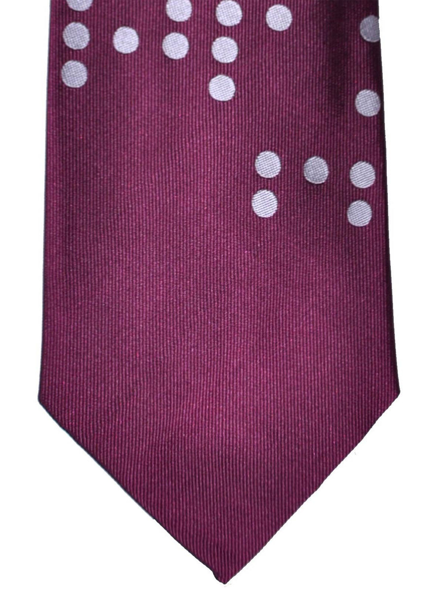 Gene Meyer Tie Purple Dots SALE