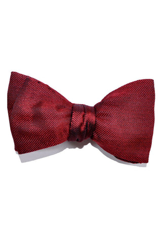 Gene Meyer Bow Tie Solid Burgundy Grosgrain