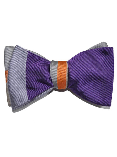 Gene Meyer Bow Tie Purple Lilac Hand Made in Italy