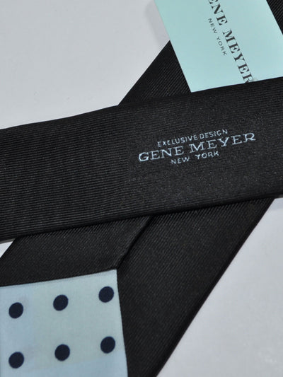 Gene Meyer Tie Black Olive Gray Dot & Diamond SALE