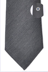 Gene Meyer Tie Gray Circle Dot Wool Silk