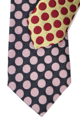 Gene Meyer Tie Chocolate Pink Polka Dots