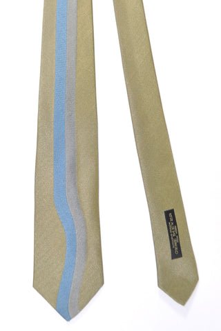 Gene Meyer Tie Gray-Gold Blue Silver