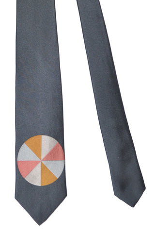 Gene Meyer Tie Gray Circle