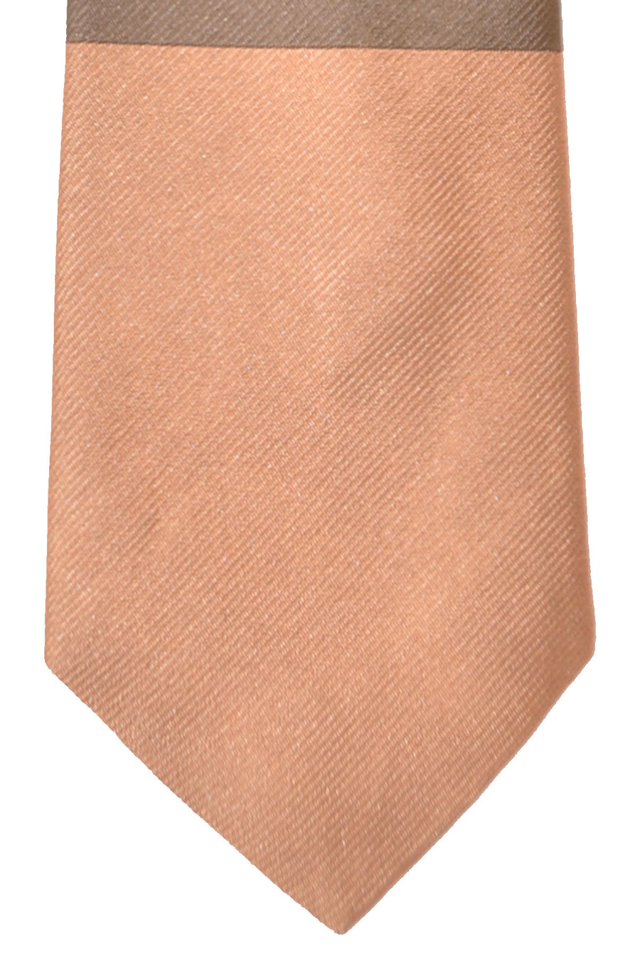Gene Meyer Tie Gray Salmon Olive Design
