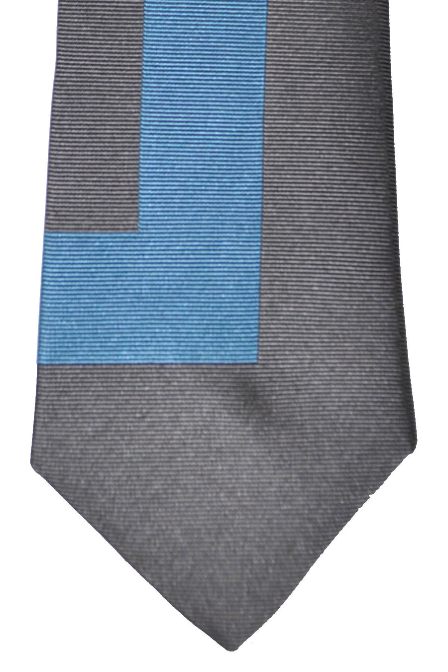 Gene Meyer Tie Gray Blue Design
