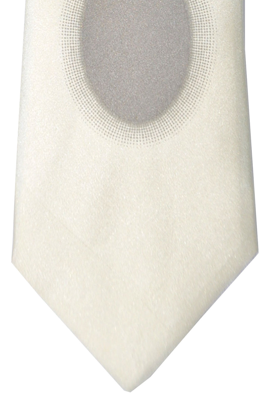 Gene Meyer Tie Cream Geometric Design