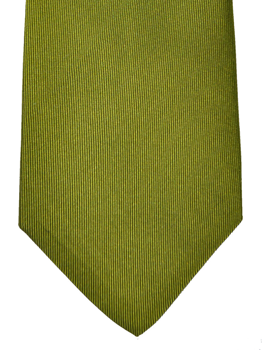 Gene Meyer Silk Tie Green Geometric