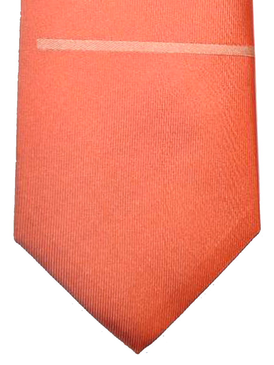 Gene Meyer Tie Peach Orange Multicolored Stripes Design