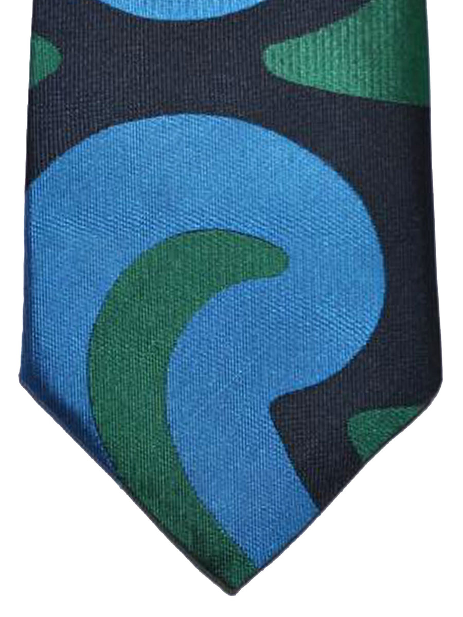 Gene Meyer Tie Black Blue Green Design