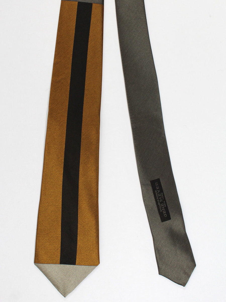 Gene Meyer Tie Brown Gray Black Design