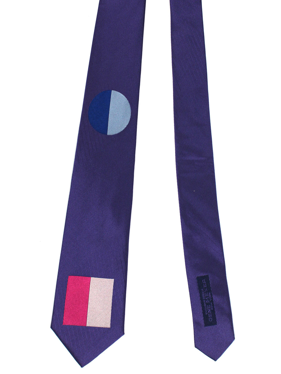 Gene Meyer Tie Purple Pink Gray Design