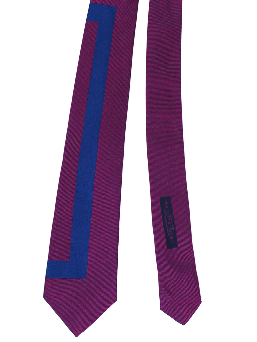 Gene Meyer Tie Purple Navy Design