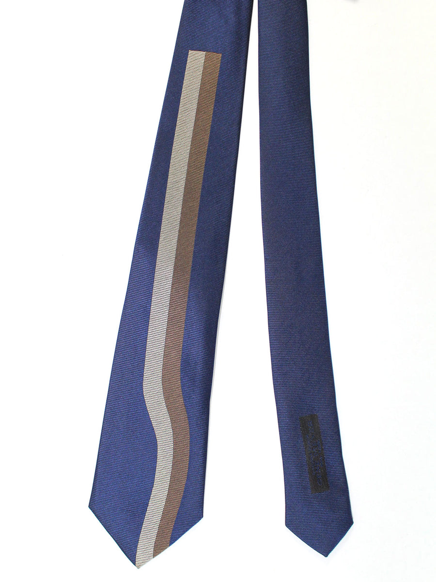 Gene Meyer Silk Tie Lapis Brown