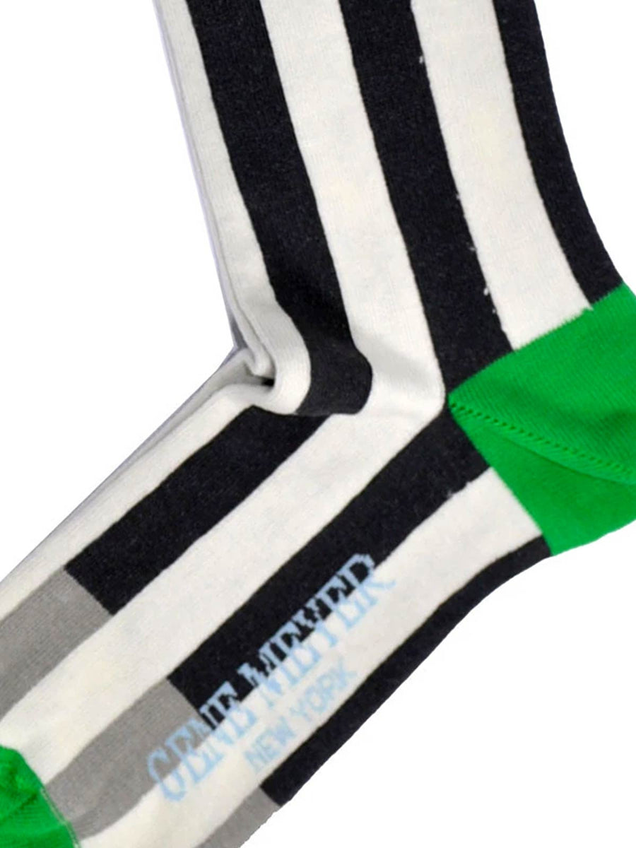 Gene Meyer New York Socks Black White Stripes
